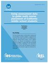 New REL West Report on Math Placement Decisions in Middle School